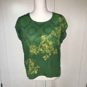 Cabi | Green with Envy Floral Blouse Size Small